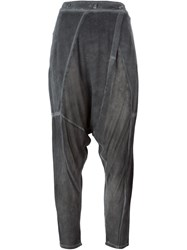 Lost And Found High Waist Harem Trousers Grey