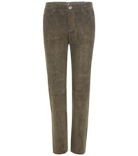 Stouls Clark Cropped Suede Trousers Green
