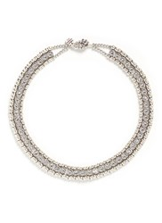 Philippe Audibert 'Solange' Beaded Swarovski Crystal Necklace Metallic