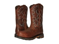 Ariat Workhog Pull On Ct Nutty Brown Women's Work Boots Yellow