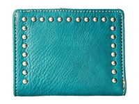 American West Amour Folded Snap Wallet Turquoise Wallet Handbags Blue