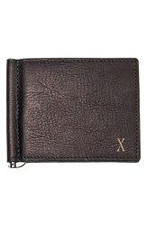Men's Cathy's Concepts Personalized Leather Wallet And Money Clip Metallic Brown X