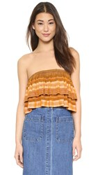 Free People Indian Summer Tube Top Orange