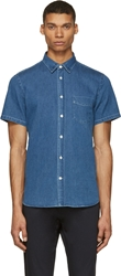 Acne Studios Blue Washed Denim Isherwood Shirt