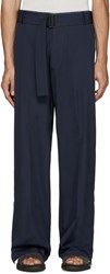 Umit Benan Navy Belted Baggy Trousers