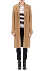 Barneys New York Women's Wool Cashmere Melton Car Coat Tan