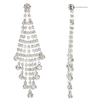 John Lewis Statement Cubic Zirconia Waterfall Drop Earrings Silver