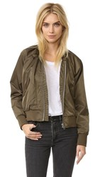 Free People Midnight Bomber Jacket Army