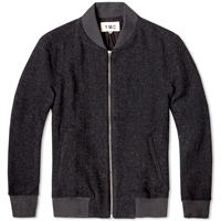Ymc Wool Bomber Jacket Charcoal