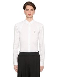 Mcq By Alexander Mcqueen Geo Harness Stretch Cotton Poplin Shirt