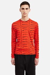 J.W.Anderson Tool Print Long Sleeve Top Red