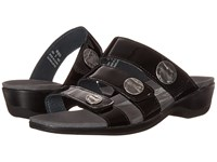 Propet Annika Slide Black Patent Women's Dress Sandals