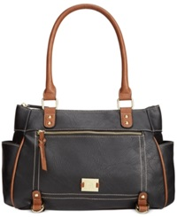 Style And Co. Precious Cargo Satchel Black Luggage