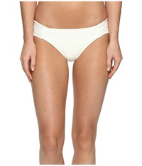 Roxy Cozy And Soft Base Girl Bikini Bottom Cream Women's Swimwear Beige