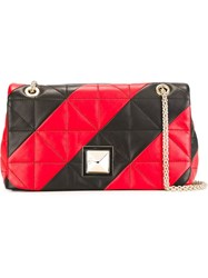 Sonia Rykiel Striped Quilted Cross Body Bag Black