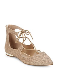 Saks Fifth Avenue Estyn Lace Up Gladiator Flats Gold