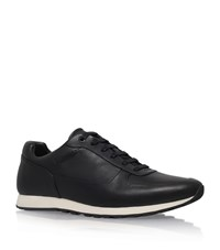 Hugo Boss Breeze Leather Sneakers Male Black