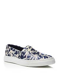 Marc Jacobs Leaf Print Slip On Sneakers Blue