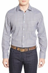 John W. Nordstrom Regular Fit Check Sport Shirt Brown