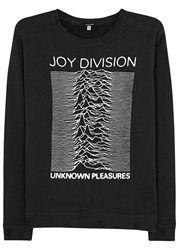 R 13 Joy Division Print Cotton Sweatshirt Black
