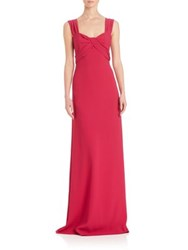 Escada Twisted Sweetheart Gown Midnight Magenta