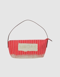 Gas Jeans Gas Medium Leather Bags Red
