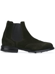 Church's Perforated Detailing Chelsea Boots Green