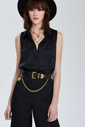 Nasty Gal Vintage Chanel Leather Belt
