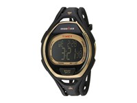 Timex Ironman Sleek 50 Hollywood Full Size Resin Strap Watch Black Gold Tone Watches