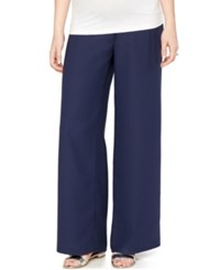 A Pea In The Pod Wide Leg Maternity Dress Pants Navy