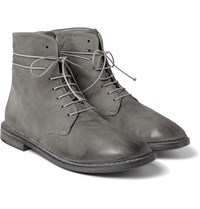 Marsell Washed Leather Boots Gray