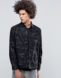 Cheap Monday Out Shirt Jacket Camo Space Grey Dark Grey
