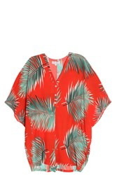 Paul And Joe Palm Print Romper Red