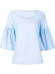 Suno Ruffled Sleeves Blouse Blue
