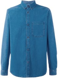 A.P.C. Denim Button Down Shirt Blue