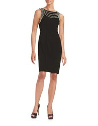 Decode 1.8 Embellished Solid Dress Black