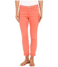 Nydj Rachel Rolled Cuff Ankle In Coral Branch Coral Branch Women's Jeans Orange