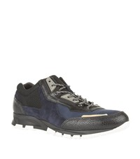 Lanvin Mesh Panel Running Sneakers Male Navy
