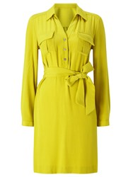 Precis Petite Aubree Tie Shirt Dress Yellow
