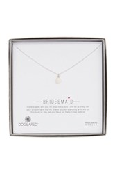 Dogeared Sterling Silver Bridal Bridesmaid Sideways Heart Necklace Metallic
