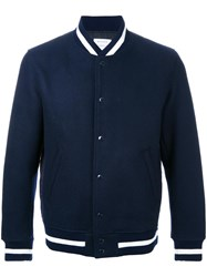 Mr. Gentleman 'Mr. Award' Quilted Bomber Jacket Blue