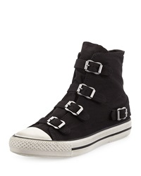 Ash Virgin Buckled Canvas Sneaker Black