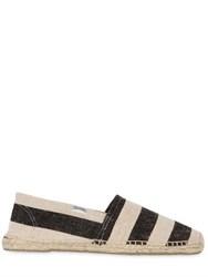 Soludos Henley Striped Cotton Canvas Espadrilles