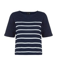 Ag Jeans The Vex Striped Cropped T Shirt Female Multi