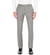 Sandro Slim Fit Tapered Wool Trousers Gris