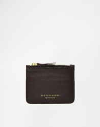Scotch And Soda Leather Wallet Brown