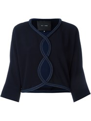 Jay Ahr Rope Trim Cut Out Blouse Blue