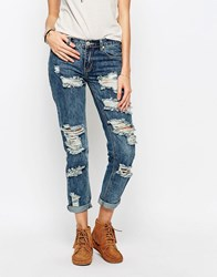 Glamorous Ripped Jeans Mid Bllue Blue