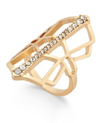 Thalia Sodi Gold Tone Geometric Pave Ring Only At Macy's