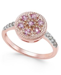 Macy's Pink Sapphire 3 8 Ct. T.W. And Diamond Accent Ring In 14K Rose Gold